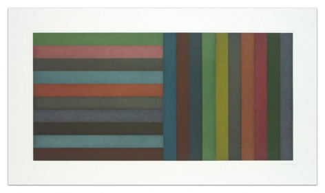 Sol LeWitt Horizontal Color Bands and Vertical Color Bands, 1991