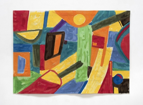 Etel Adnan Avril, 2017 Wool tapestry 56 11/16 x 78 3/4 inches (144 x 200 cm) Edition of 3 with 1AP GP2296.2