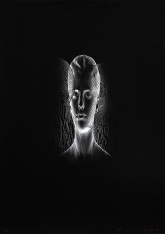 Jaume Plensa Aura II, 2020 Digital print 39 3/8 x 27 1/2 in (100 x 70 cm) Edition 24 of 30 (GP2719)