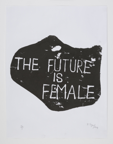 Barthélémy Toguo The Future is Female, 2019 Woodblock print on paper 25.6 x 19.7 inches (65 x 50 cm) Edition of 3 GP 2533