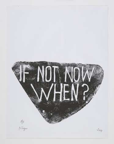 Barthélémy Toguo If Not Now When?, 2019 Woodblock print on paper 25.6 x 19.7 inches (65 x 50 cm) Edition of 3 GP 2525