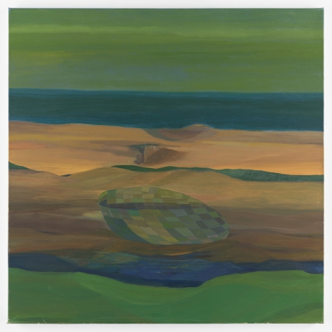 Ficre Ghebreyesus Solitary Boat, Aground, c. 2005-07 Acrylic on canvas 40.25 x 40.25 inches (102.2 x 102.2 cm) GL 13403