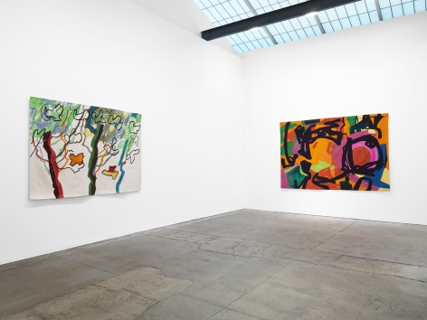 Installation view of Etel Adnan: Seasons at Galerie Lelong & Co., New York