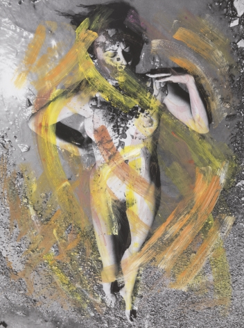 Carolee Schneemann Evaporation - Noon, 1974 /2017-18 hand-colored inkjet print 38 x 28 inches (96.5 x 71.1 cm) Framed: 45.5 x 36 x 1.5 inches (115.6 x 91.4 x 3.8 cm) (SCHNEEMANN-768)
