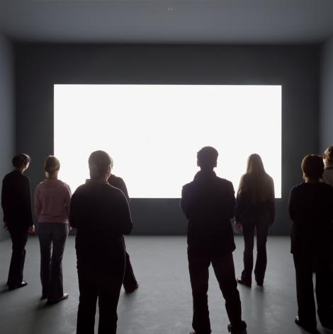 Alfredo Jaar  Lament of the Images, 2002  Installation: 3 plexiglas plates with inscriptions, light wall, mixed media  Text panels: each 23 x 20in. (58.4 x 50.8 cm)  Light wall: 6 x 12 feet (182.9 x 365.8 cm)