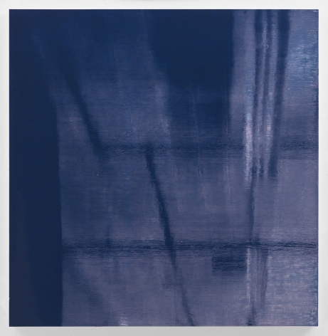 Kate Shepherd Blue Violet Lights Off, 2019 Enamel on panel 42 x 41 inches (106.7 x 104.1 cm) GL14481 (Photographed with reflections)
