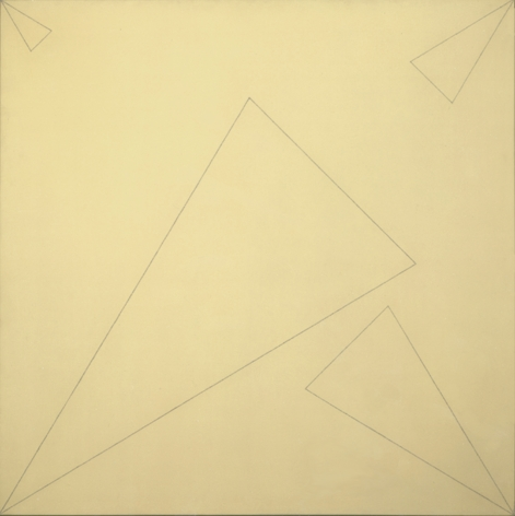 Robert Mangold Four Triangles within a Square (Cream), 1976 Acrylic and colored pencil on canvas 48 x 48 inches (122 x 122 cm) GL1340