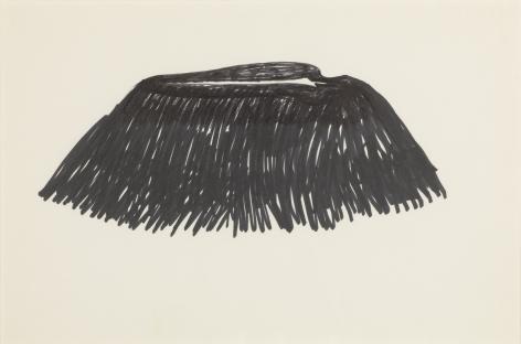 Ana Mendieta Volcán, c. 1979 Ink on paper 16 x 12.5 inches (40.6 x 31.8 cm) Framed: 16 x 19.75 x 1.25 (40.6 x 50.2 x 3.2 cm) GL3192