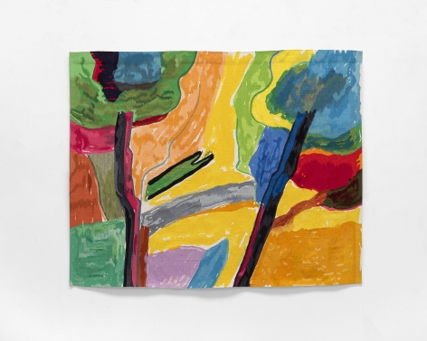 Etel Adnan Clairière, 2019 Wool tapestry 62.25 x 78.38 inches (158.1 x 199.1 cm) Edition 2 of 3 with 1 AP (GP2606)