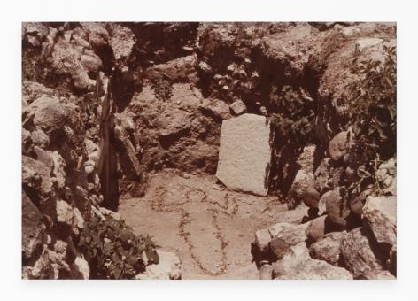 Ana Mendieta Untitled: Silueta Series, Mexico, 1976 Color photograph 8 x 10 inches (20.3 x 25.4 cm) Framed: 15.75 x 18.25 x 1.25 inches (40 x 46.3 x 3.2 cm) GL9336