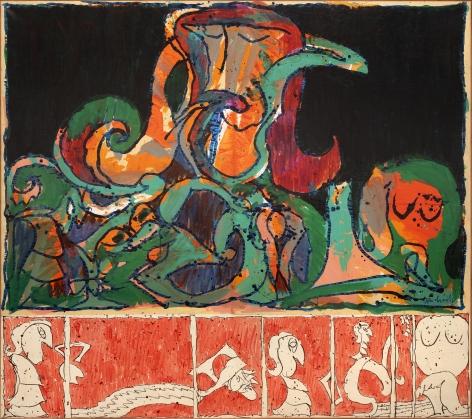Pierre Alechinsky, Le voyeur pourvu, 1970-1971