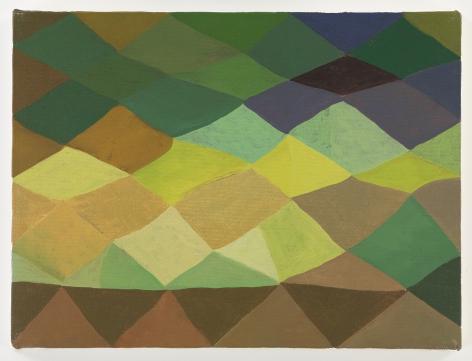 Ficre Ghebreyesus Untitled, c.2002-07 Acrylic on canvas 9 x 12 inches (22.9 x 30.5 cm) Framed: 11.6 x 14.5 x 1.75 inches (29.5 x 36.8 x 4.4 cm) (GL13765)