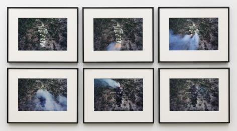 Ana Mendieta Untitled: Silueta Series, 1979 / 2020 Suite of six color photographs Each: 16 x 20 inches (40.6 x 50.8 cm) Framed, each: 22 1/2 x 28 5/8 x 1 3/8 in (57 x 72.8 x 3.5 cm)