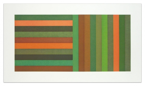 Sol LeWitt Horizontal Color Bands and Vertical Color Bands, 1991 Aquatint on Somerset Satin White 24 x 42 inches (61 x 106.7 cm) Edition of 30 GP0275-4