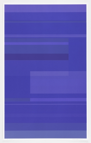 Kate Shepherd  Protest Violet #59, 2016 Screen print on Coventry rag paper 39.5 x 25 inches (100.3 x 63.5 cm) Framed: 42.25 x 27 x 2 inches (107.3 x 68.6 x 5.1 cm)   Edition 1 of 1 GL10552.1