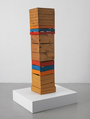 Mildred Thompson Stele, c. 1963 Acrylic on found wood 38 x 7.75 x 8.5 inches (96.5 x 19.7 x 21.6 cm) (GL12606)