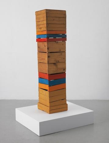 Mildred Thompson Stele, c. 1963 Acrylic on found wood 38 x 7.75 x 8.5 inches (96.5 x 19.7 x 21.6 cm) (GL12606)