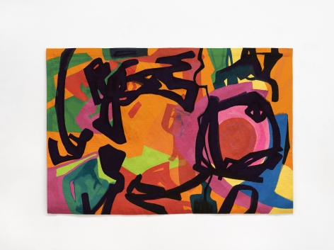 Etel Adnan Danse Nocturne, 2019 Wool tapestry 67.5 x 99.8 inches (171.5 x 253.5 cm) Edition of 3 with 1 AP GP2378
