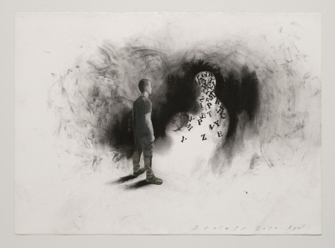 Jaume Plensa STILL 04, 2020 Mixed media on paper 20.08 x 27.56 inches (51 x 70 cm) GL14593