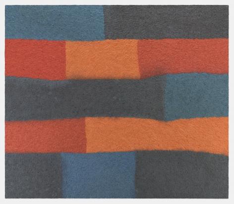 Samuel Levi Jones Interconnectivity, 2019 Pulped American history books on canvas 70 x 80 inches (177.8 x 203.2 cm)