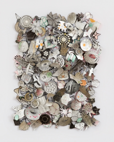 Jane Hammond Results of a Search (Eight Hands), 2015