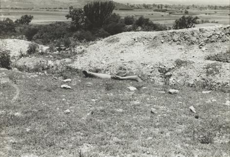 Ana Mendieta Dainzú, 1973 Black and white photograph 8 x 10 inches (20.4 x 25.4 cm)  Framed: 15.75 x 18.25 x 1.25 inches (40 x 46.4 x 3.2 cm) GL8031