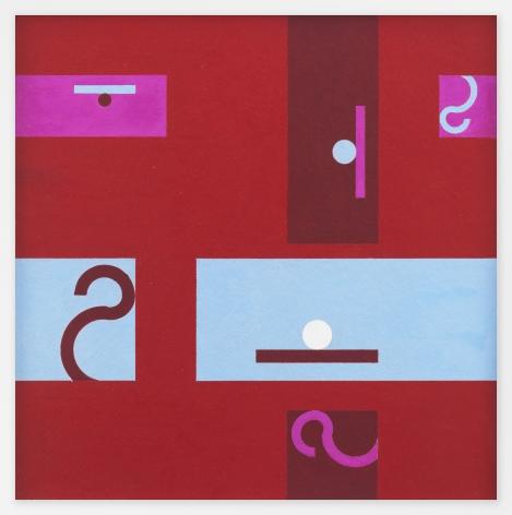 Hélio Oiticica Untitled, 1955 Gouache on cardboard 19 1/2 x 19 inches (49.6 x 48 cm) Framed: 23 3/8 x 23 7/8 x 1 1/2 inches (59.37 x 60.6 x 4.5 cm) GL10983