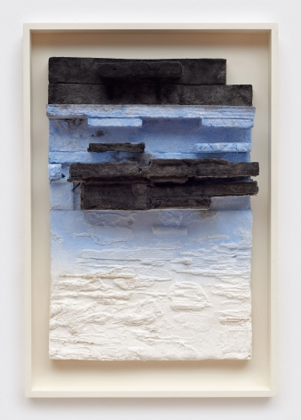 Leonardo Drew Number 67P, 2017 Pigmented and cast handmade paper with hand applied pigment 17.5 x 11 inches (44.5 x 27.9 cm) Framed: 20.25 x 13.75 inches (51.4 x 34.9 cm) Edition 5 of 10 (GP2710)