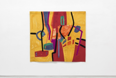 Etel Adnan Matinée récréative, 1970 / 2015 Wool tapestry 72.8 x 65 inches (185 x 165 cm) Edition 2 of 3 with 1AP (#2/3) (GP2079)
