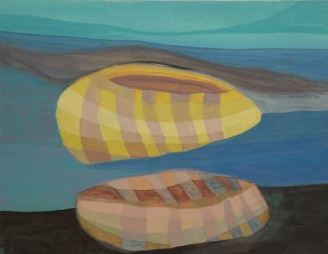 Ficre Ghebreyesus  Boat, c.2002-07  Acrylic on canvas  14 x 18 inches (35.6 x 45.7 cm)  GL13646