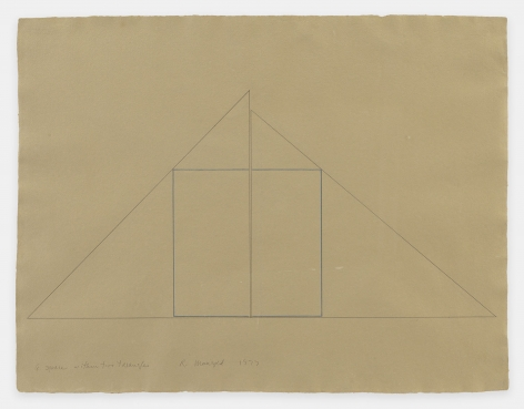 Robert Mangold A Square Within Two Triangles, 1977 Graphite on paper 20 x 26 inches (50.8 x 66 cm) GL1966
