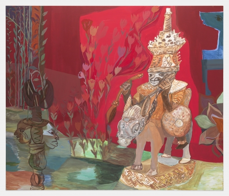 Ficre Ghebreyesus Red Room, c. 2002-07 Acrylic on canvas 84 x 72 inches (213.4 x 182.9 cm) GL 13852