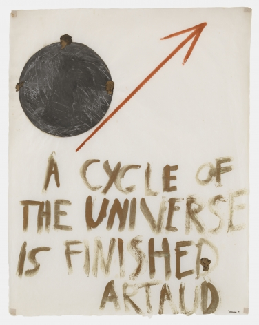 Nancy Spero, A Cycle of the Universe is Finished - Artaud, 1969