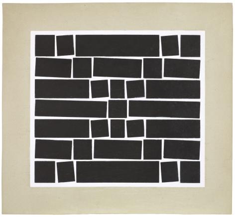 Hélio Oiticica Untitled, 1958 Gouache on cardboard 11.6 x 13 inches (30 x 33 cm) Framed: 23.1 x 24 x 1.75 inches (58.7 x 61 x 4.4 cm) (GL8776)