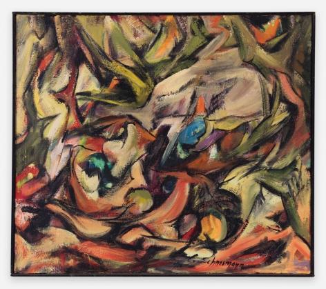 Carolee Schneemann Winter's Fuel I, 1956