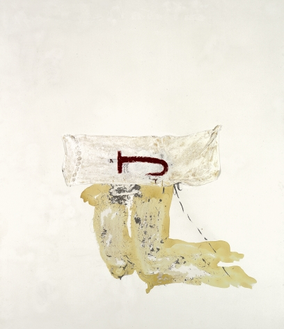 Antoni Tàpies Crochet, 1982 Mixed media and collage on fabric 76.77 x 66.93 inches (195 x 170 cm) (GL14841)