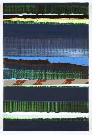 Juan Uslé Luna lenta, 2019-2020 Vinyl dispersion and dry pigment on canvas 18.11 x 12.2 inches (46 x 31 cm) GL14210