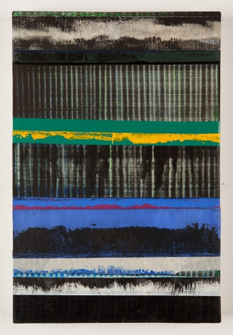Juan Uslé Los azules perdidos, 2019 Vinyl dispersion and dry pigment on canvas 18.11 x 12.2 inches (46 x 31 cm) GL14211