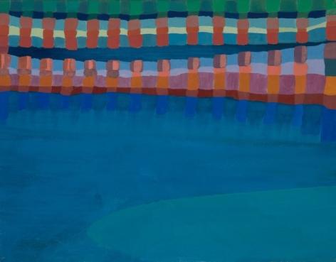 Ficre Ghebreyesus  Gate to the Blue, c.2002-07   Acrylic on canvas  11 x 14 inches (27.9 x 35.6 cm)  Framed: 13.5 x 16.5 x 1.5 inches (34.3 x 41.9 x 3.8 cm)   GL13745