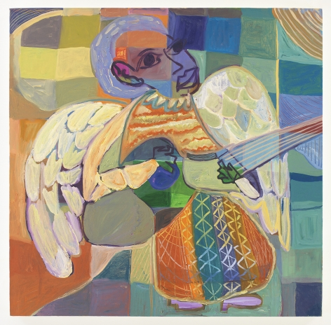 Ficre Ghebreyesus, acrylic on canvas