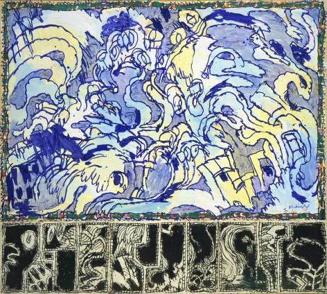 Pierre Alechinsky, Aquatique, 1982