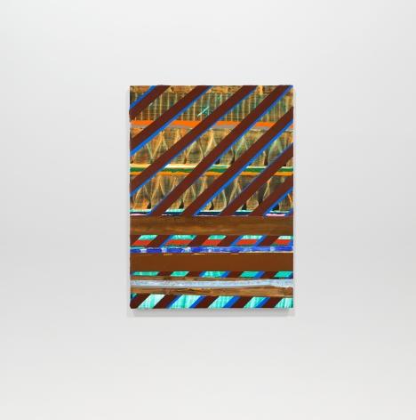 Juan Uslé La sortie, 2019-2020 Vinyl dispersion and dry pigment on canvas 22.05 x 16.14 inches (56 x 41 cm) GL14559