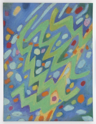 Mildred Thompson Untitled, 2003 Pastel on paper 11.9 x 9 inches (30.2 x 22.9 cm)  Framed: 16.6 x 13.75 x 1.75 inches (42.2 x 34.9 x 4.4 cm)   GL12138