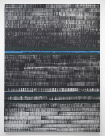 Juan Uslé Soñé que revelabas (Loire), 2021 Signed, titled, and dated on reverse Vinyl, dispersion, and dry pigment on canvas 120.1 x 89.75 in (305 x 228 cm) (GL14999)