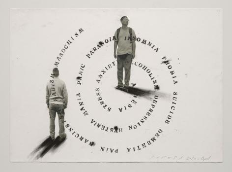 Jaume Plensa STILL 06, 2020 Mixed media on paper 20 x 27.5 inches (51 x 70 cm)