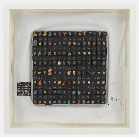 Leonardo Drew Number 267D, 2020 Porcelain and paint on paper 23 x 23 x 2 inches (58.4 x 58.4 x 5.1 cm) Framed: 26 x 26 x 3.5 inches (66 x 66 x 8.9 cm) (GL14820)