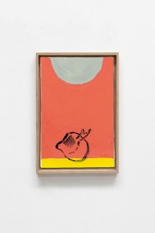 Etel Adnan Planète 17, 2020 Oil on canvas 36.2 x 25.2 cm 13 x 8.7 inches (33 x 22 cm) Framed: 14.25 x 9.9 inches (36.2 x 25.1 cm)  GL14746