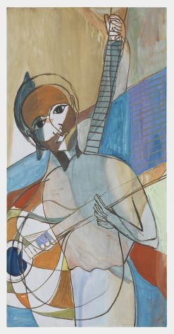 Ficre Ghebreyesus  Seated Musician VI, 2011  Acrylic on canvas  48 x 24 inches (121.9 x 61 cm)  GL13481