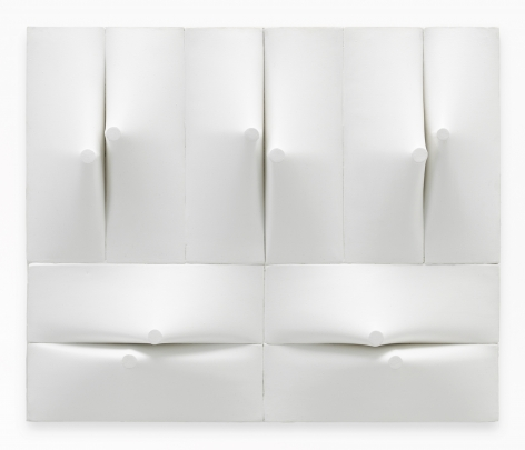 Zilia Sánchez Conjunción II [Conjunction II], 2011/2019 Acrylic on stretched canvas 17.5 x 21.25 x 3 inches (44.5 x 54 x 7.6 cm) (GL13387)