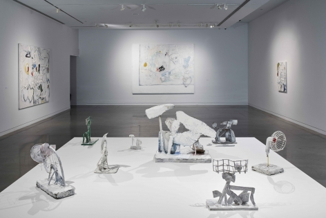 EDDIE MARTINEZ Installation view of White Outs at The Bronx Museum of the Arts, Bronx, NY, 2018